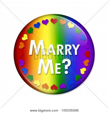 Lgbt Marry Me Button