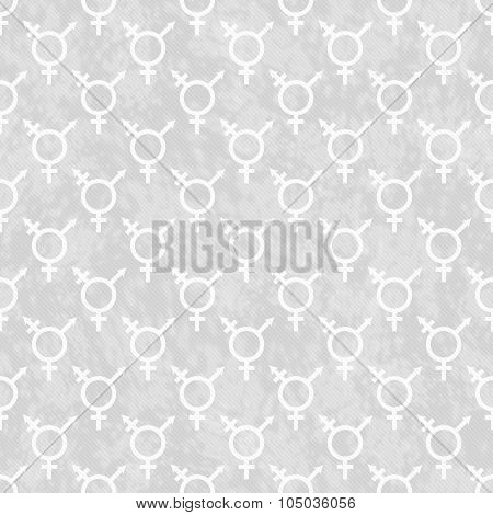 Gray And White Transgender Symbol Tile Pattern Repeat Background