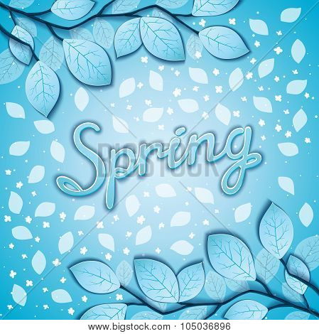 Freshening spring background