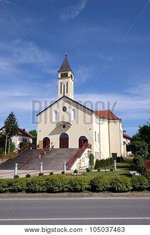 LIPIK, CROATIA - MAY 07: Church of Saint Francis of Assisi in Lipik, Croatia on May 07, 2015