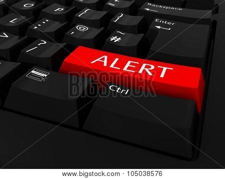 Red Alert Key Keyboard Background