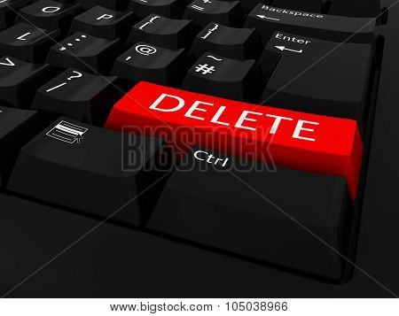 Red Delete Key Keyboard Background
