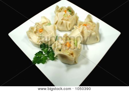 Dim Sums Ready For Steaming