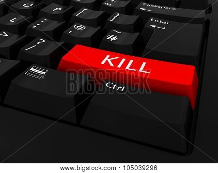 Red Kill Key Keyboard Background