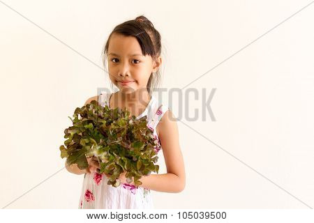 Asian Girl Kid Is Expressions Of Healty