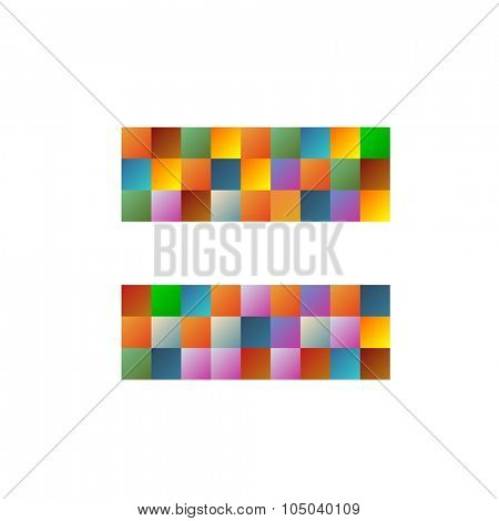 Colorful equal logo in vector