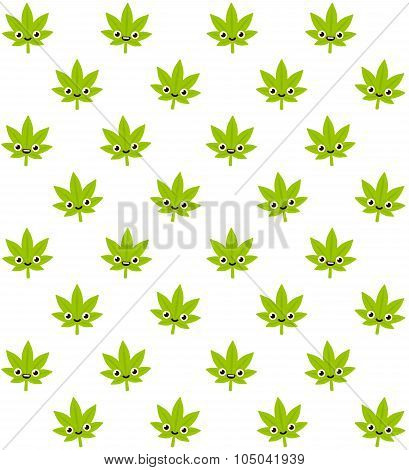 Cute Cannabis Pattern