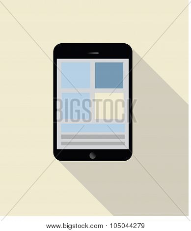 tablet illustration. pad vector graphic / note pad