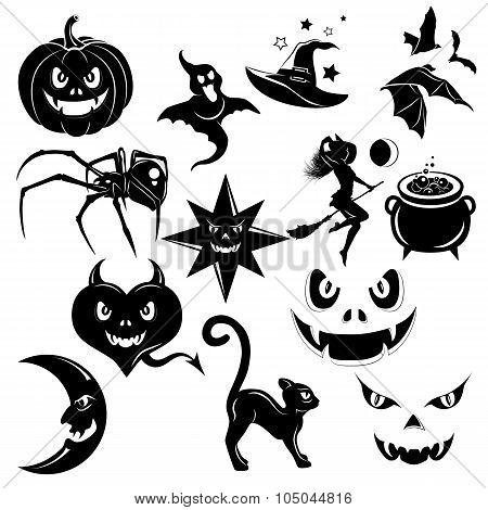 Halloween Decorative Elements Set