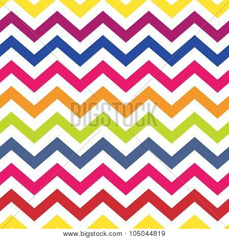 Chevron pattern seamless colorful vector