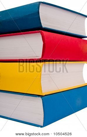 Closeup Shot Of Stack Of Books
