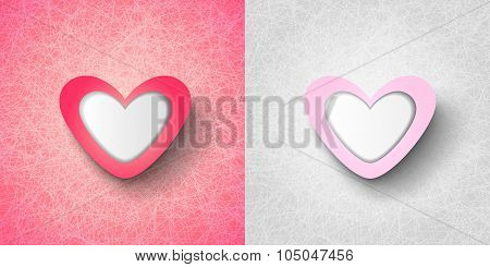 Conceptual Love Card With Hearts