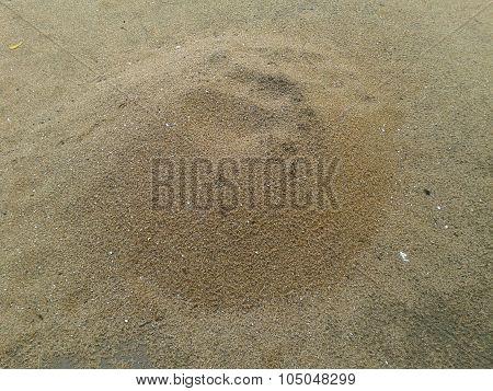 Lump of sand