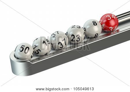 Lottery Balls In A Row