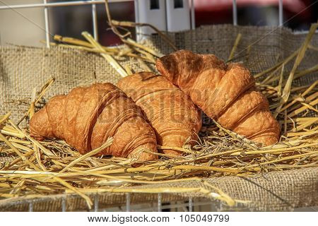 Three Golden Croissants