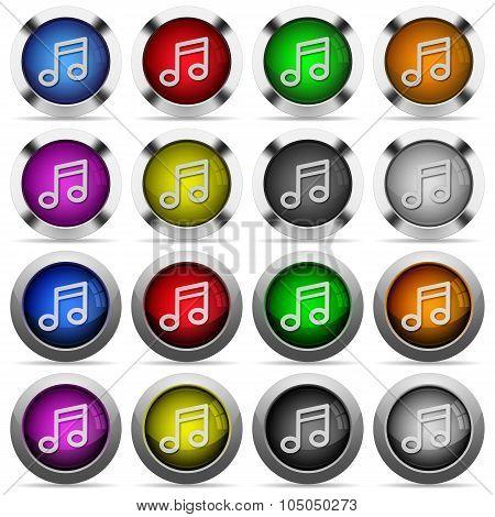 Set Of Color Music Web Buttons