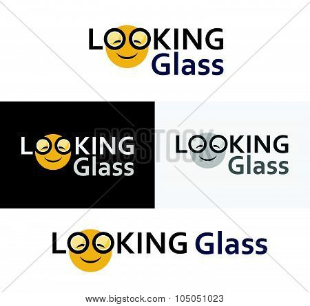 Logotype for site with Looking glass