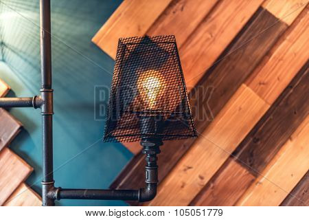 Interior Design Lamps, Living Room Space With Walls And Details. Modern Architecture And Design