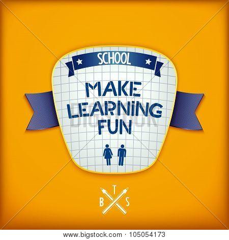 Creative education emblem design