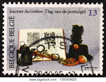 Postage Stamp Belgium 1986 Artifacts, Stamp Day
