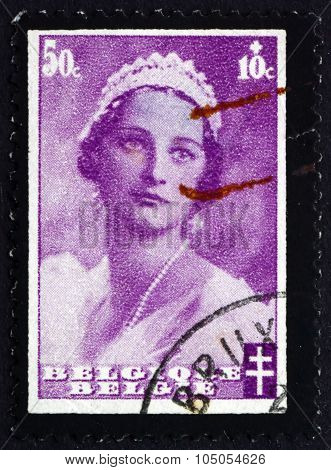 Postage Stamp Belgium 1935 Queen Astrid