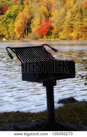 Grill In The Fall In New England
