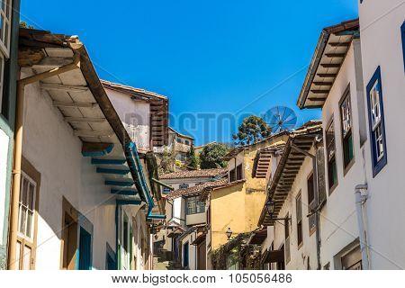Antique houses in Ouro Preto, Minas Gerais, Brazil