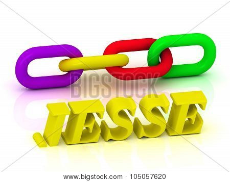 Jesse- Name And Family Of Bright Yellow Letters