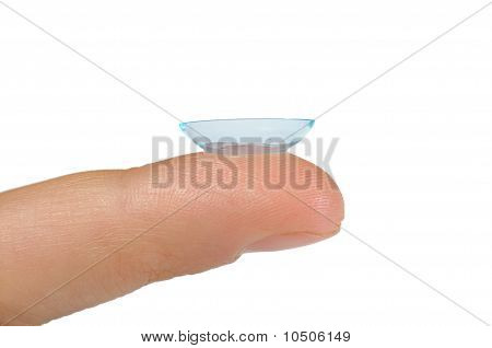 Contact lens bended in right direction