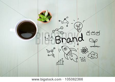 Brand Concept With A Cup Of Coffee