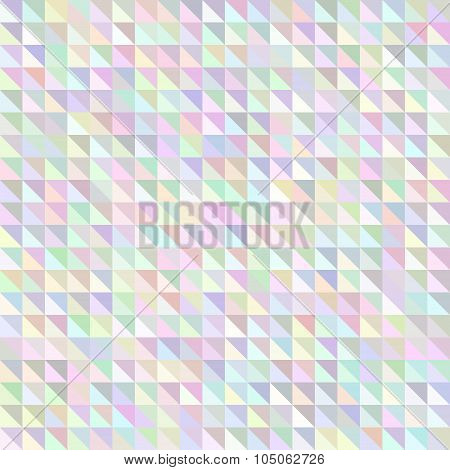 Holographic triangle geometric pattern.