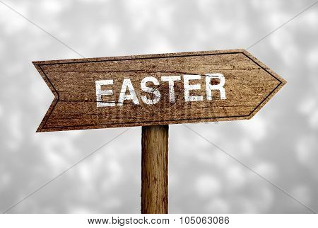 Easter Ahead Road Sign