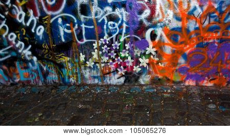 Cobblestones Next To Lennon Wall