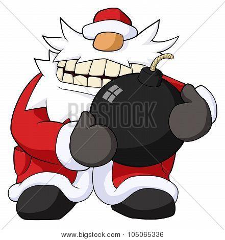 Christmas Bomb Cartoon