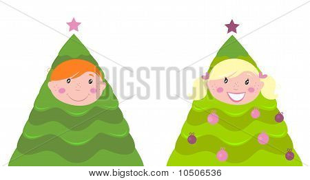 Christmas cute kid tree costume ( boy and girl )
