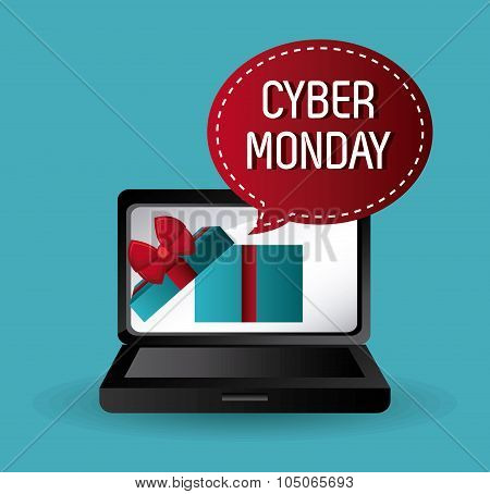 Cyber monday shopping design.