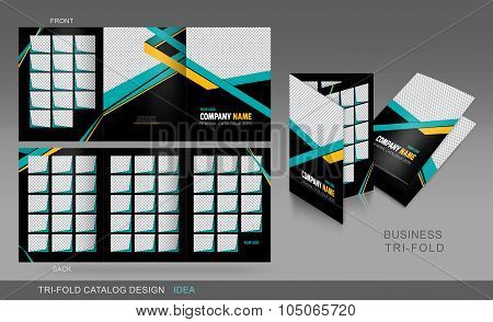 Professional Trifold Catalogue, Brochure And Flyer Template For Business Purpose