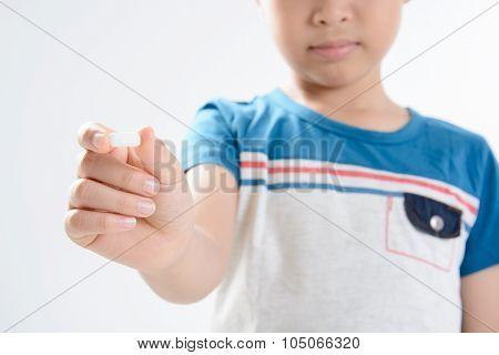 Boy And Medicine Tablet