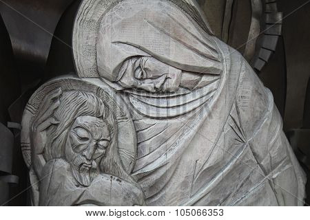 Statue Of Virgin Mary And Jesus Christ