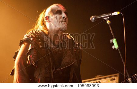 Heavy metal band Behemoth live on stage in Brisbane