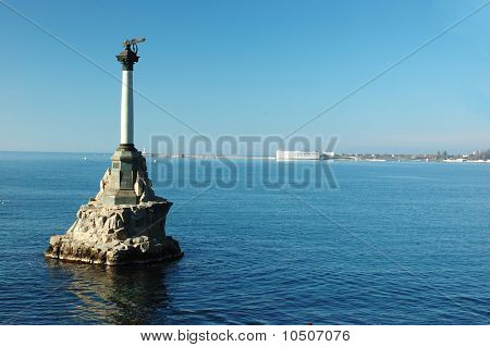 Monument To Scuttled Russian Ships, Sunk By Russian Sailors,Sevastopol,Ukraine