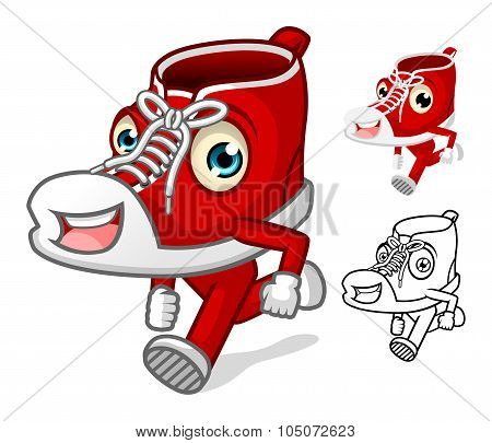Shoes Mascot with Extremities Cartoon Character