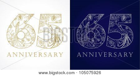 65 anniversary vintage logo.