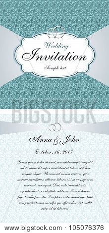Template design invitation wedding card