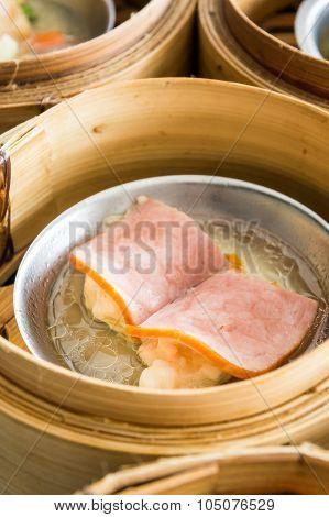 Dimsum Menu With Various Dish