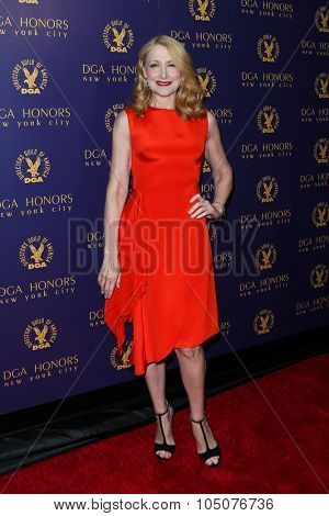 NEW YORK-OCT 15: Actress Patricia Clarkson attends the DGA Honors Gala 2015 at the DGA Theater on October 15, 2015 in New York City.