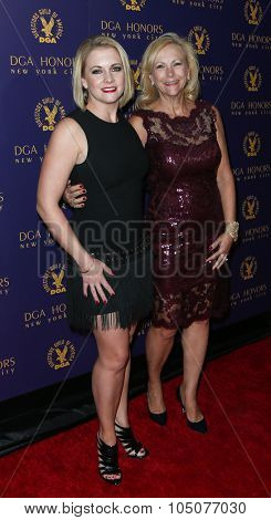 NEW YORK-OCT 15: Actress Melissa Joan Hart (L) and mother Paula Hart attend the DGA Honors Gala 2015 at the DGA Theater on October 15, 2015 in New York City.