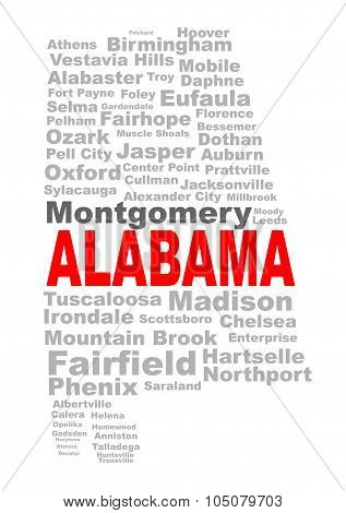 Alabama State Word Cloud