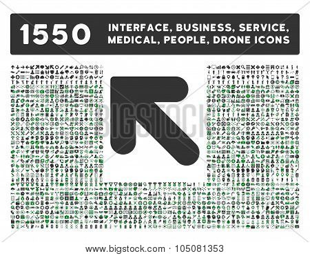Arrow Up Left Icon and More Interface, Business, Tools, People, Medical, Awards Flat Glyph Icons