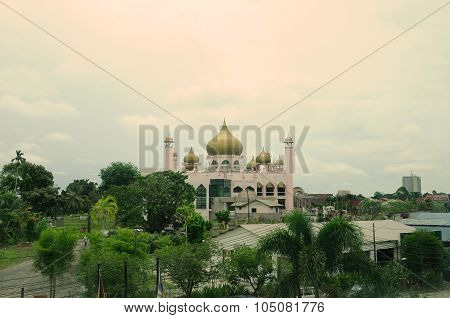 Kuching Town Mosque a.k.a Masjid Bandaraya Kuching in Sarawak, Malaysia